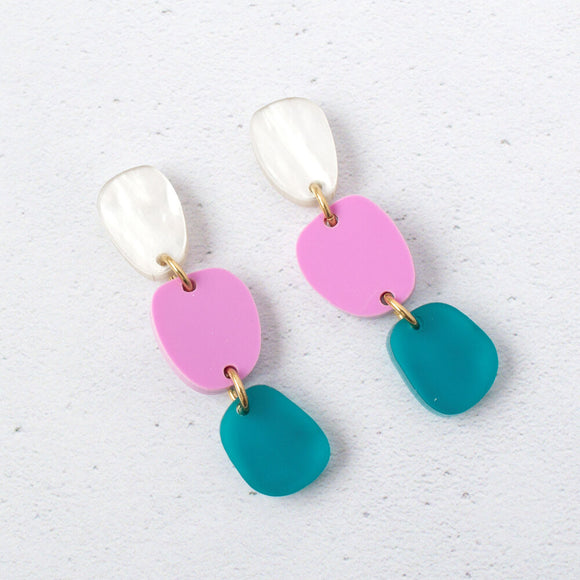 Natalie Lea Owen Lily Dangle Earrings in Green