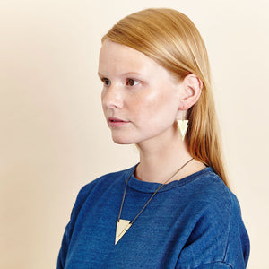 Geometric Brass Lucie Earrings