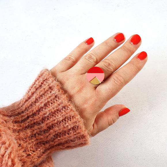 Natalie Lea Owen Matilda Ring in Red