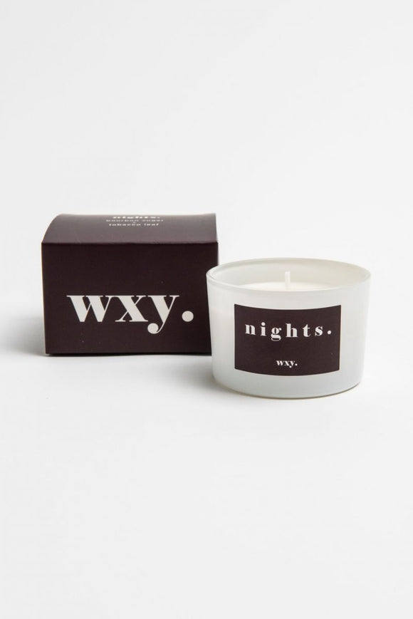 WXY 3oz Candle - Bourbon Sugar & Tobacco Leaf - Nights