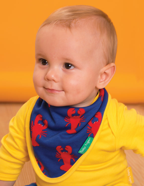 Organic Lobster Print Dribble Bib