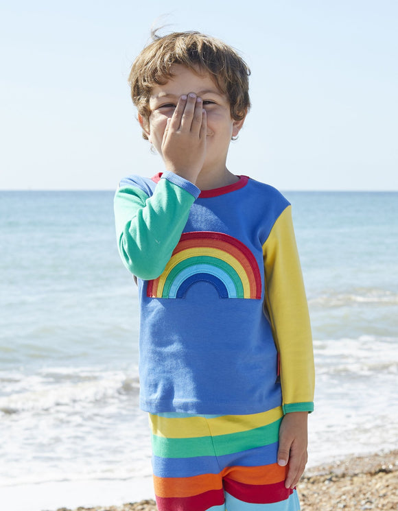 Toby Tiger Organic Rainbow Applique T-Shirt
