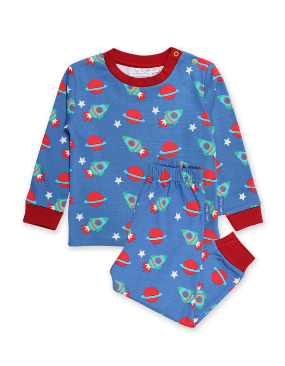 Toby Tiger Organic Space Print Pyjamas