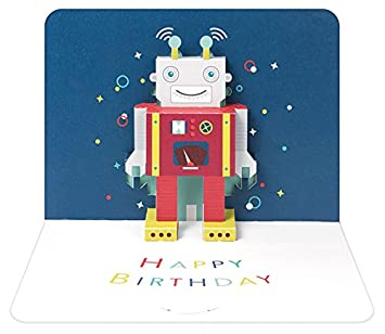 3d Robot Happy Birthday Card