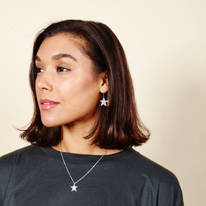 Plated Silver Star Earrings