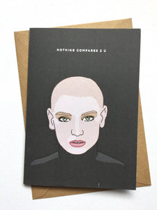 Sinead O'Connor Nothing Compares To U Card