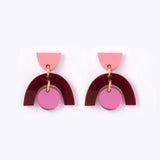 Natalie Lea Owen Sophia Earrings in Maroon