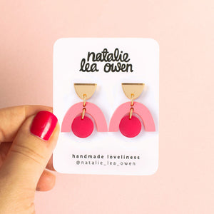 Natalie Lea Owen Sophia Earrings in Pink and Blush Gold