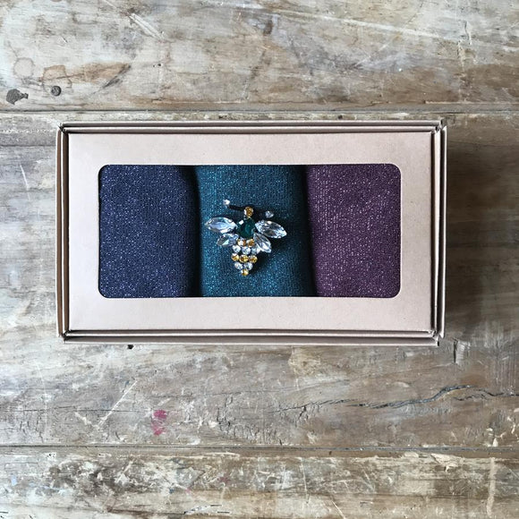 Tokyo Jewel Sock Box with Queen Bee Pin