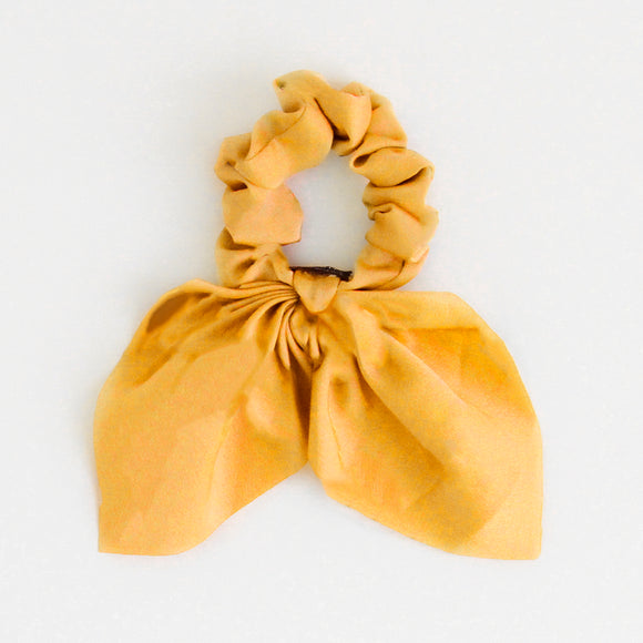 Yellow Bow Hair Tie