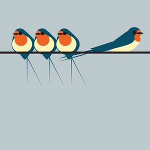 Swallows On A Line BR01