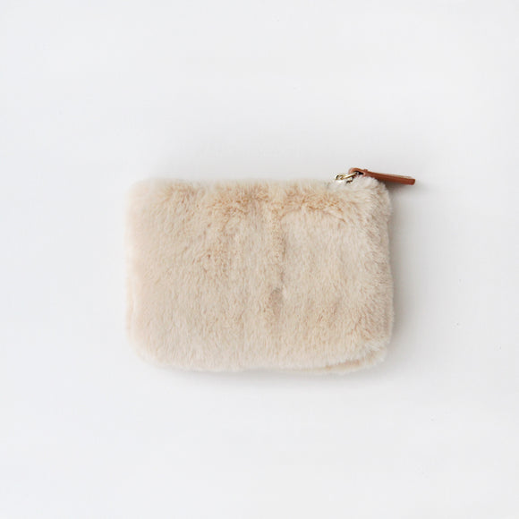 Natural Faux Fur Coin Purse