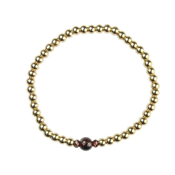 Garnet Birthstone Bracelet  - January