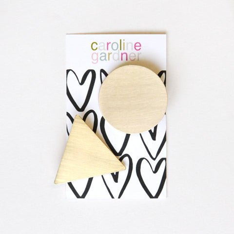 Gold and Geometric Hair Clips Set of 2