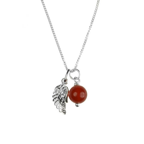 Birthstone Necklaces - Sterling Silver with Charm and Gemstone