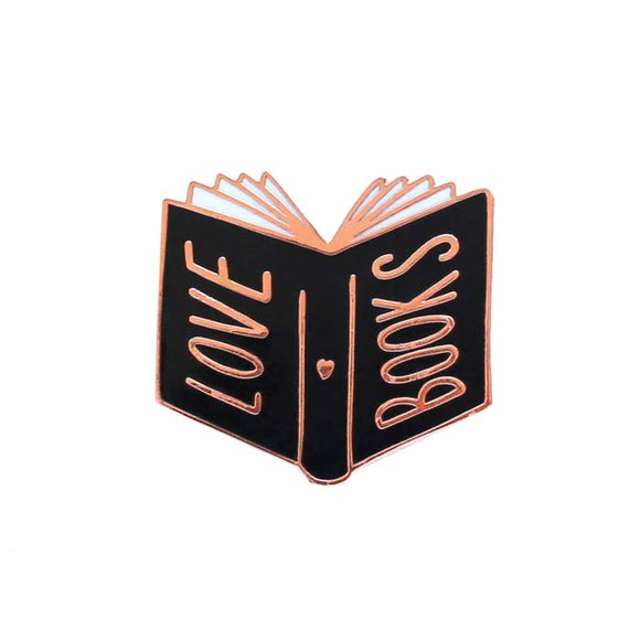 Love Books Enamel Pin