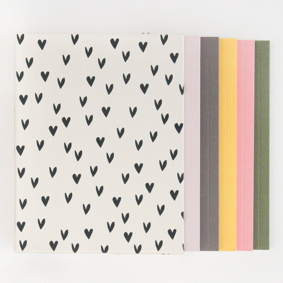 Mini Hearts Box of 5 Notebooks