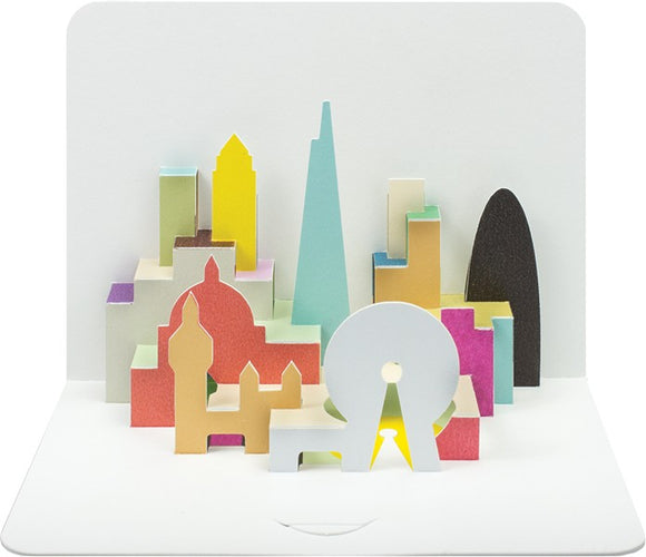 3d London Skyline Card