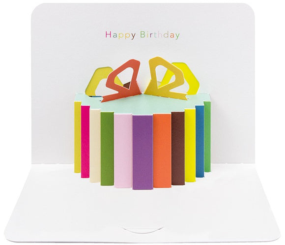 3d Happy Birthday Present Card