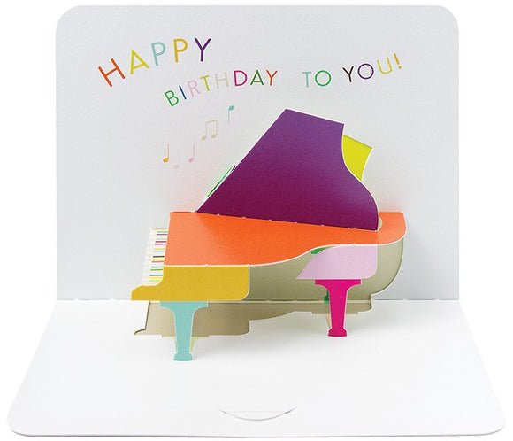 3d Piano Happy Birthday Card