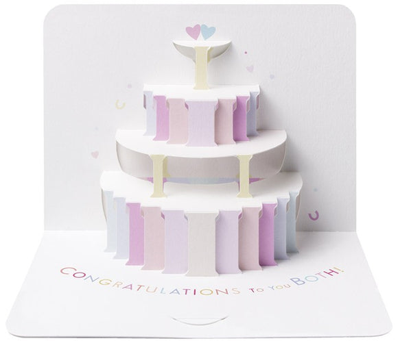 3d Congratulations To You Both Wedding Card
