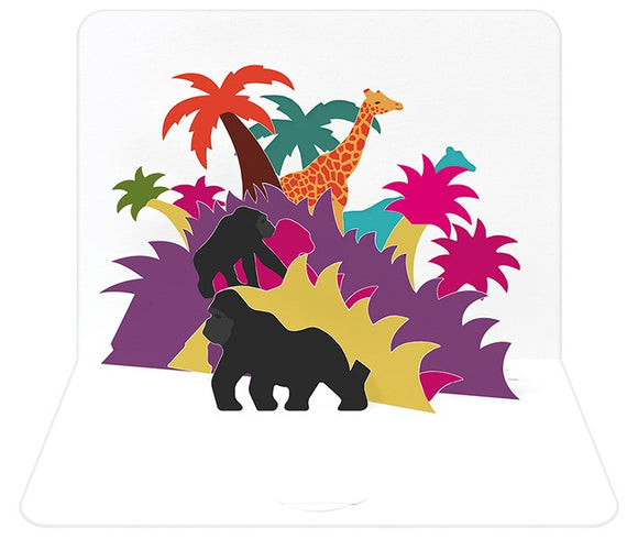 3d Jungle Card