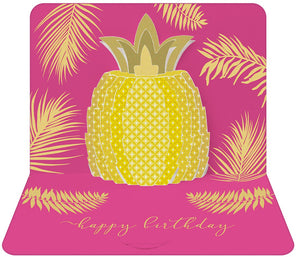 3d Pineapple Birthday Card