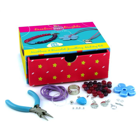 Rainbow Brights Necklace & Bracelet Pippin Kit in Sky Blue