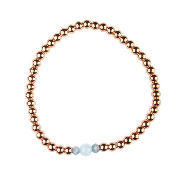 Aquamarine Birthstone Bracelet  - March