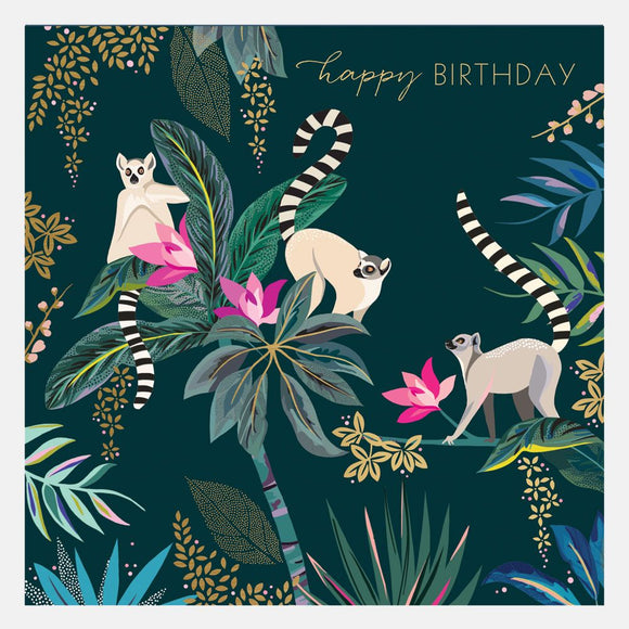 Sara Miller Lemur Happy Birthday Card SAM90