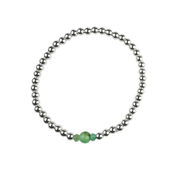 Chrysoprase Birthstone Bracelet  - May