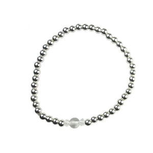 Rock Crystal Birthstone Bracelet  - April