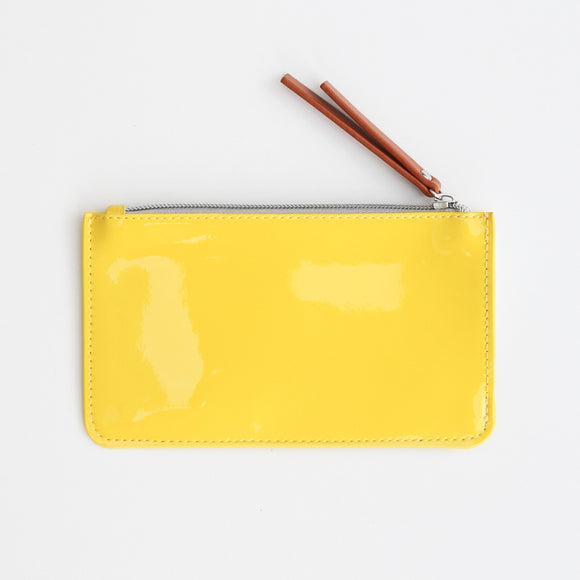 Yellow Patent Everyday Purse