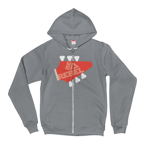 Be a rebel - Comes in 5 colors - Unisex Zip Hoodie
