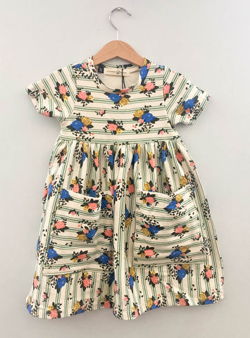 Floral Stripe Pocket Corinne Dress