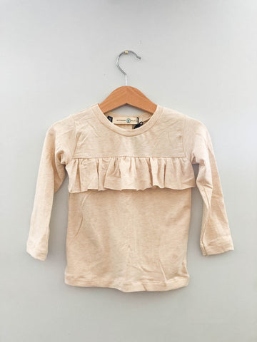 Oatmeal Ruffle top