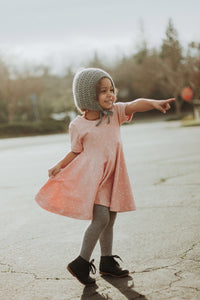 Blush Wink Twirl Dress