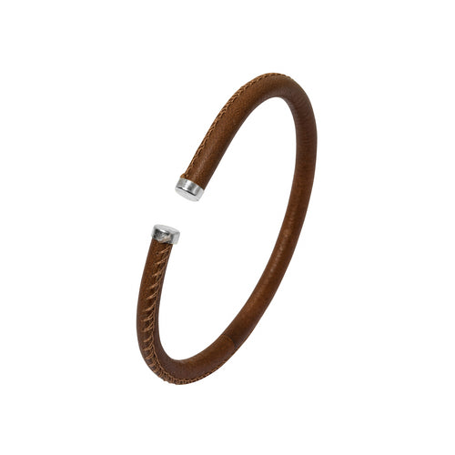 Men's Bracelet - Brown Leather