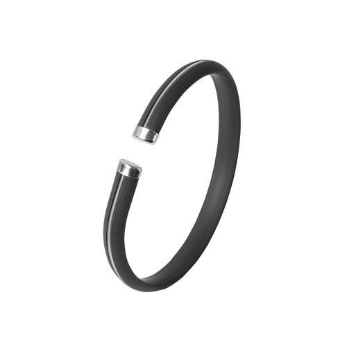 Men's Bracelet - Dark Grey Stripe