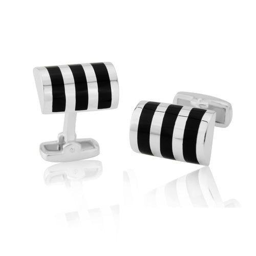 Black Onyx Stripe Cufflinks