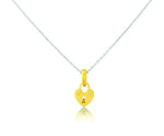 Diamond Heart Pendant - Yellow Gold