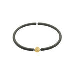 Flexi-Bracelet - Black Yellow Gold Ball