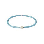 Flexi-Bracelet - Light Blue White Pearl