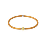 Flexi-Bracelet - Light Brown Yellow Gold Ball