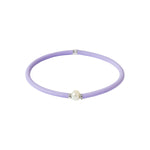 Flexi-Bracelet - Lilac Purple White Pearl