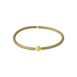 Flexi-Bracelet - Olive Green Yellow Gold Ball
