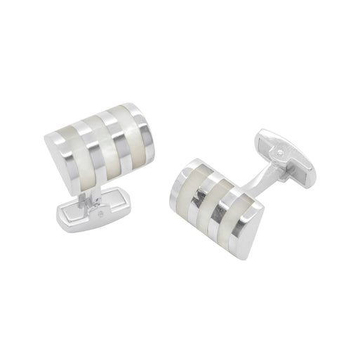 Mother of Pearl Stripe Cufflinks