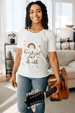 Grateful For It All t-shirt in white