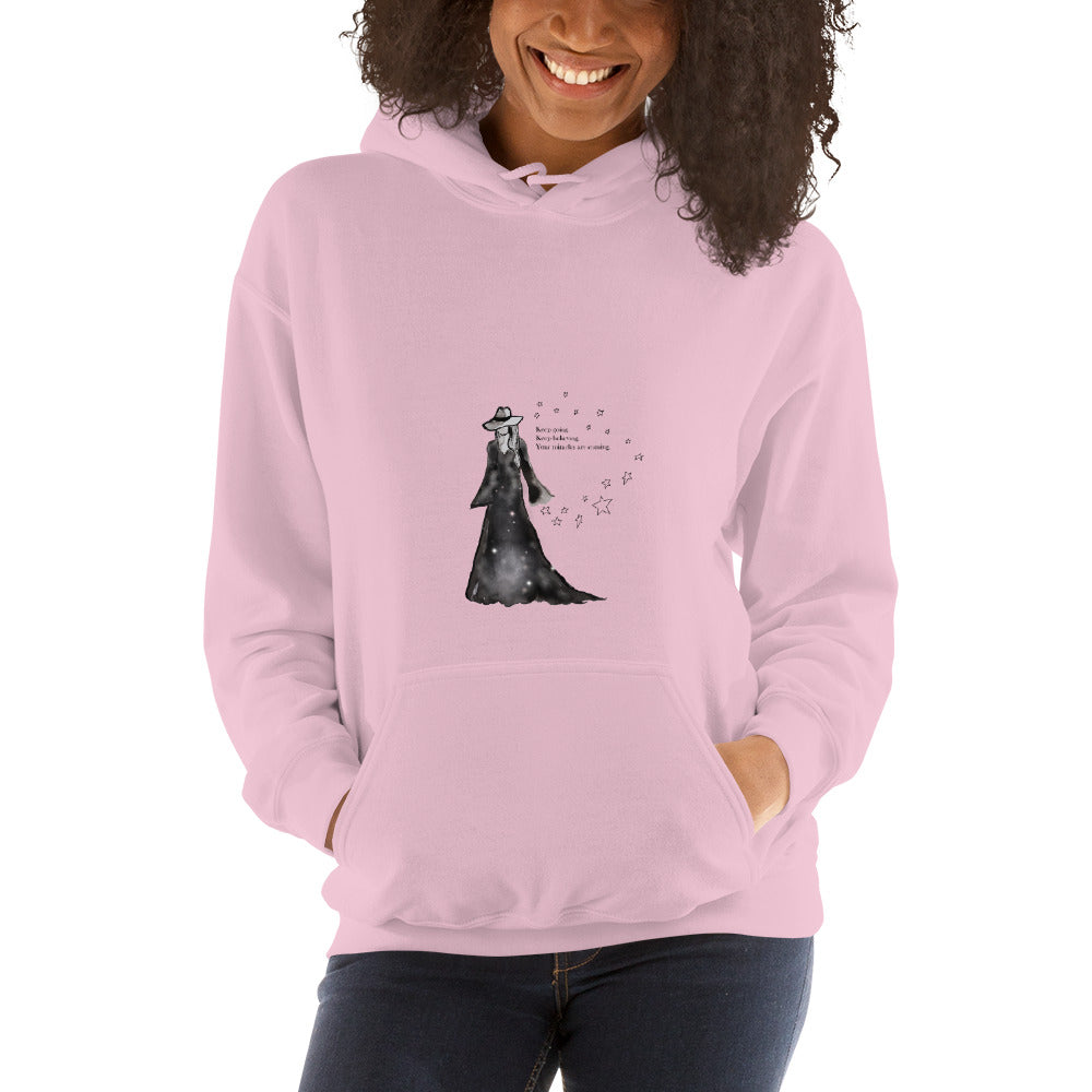 Keep Going mantra hoodie sweatshirt in pink