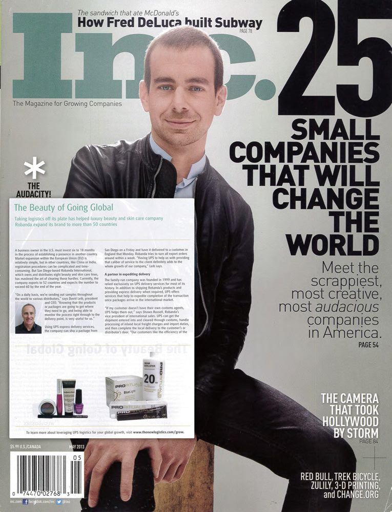 Robanda feat. in Inc. Magazine May 2013
